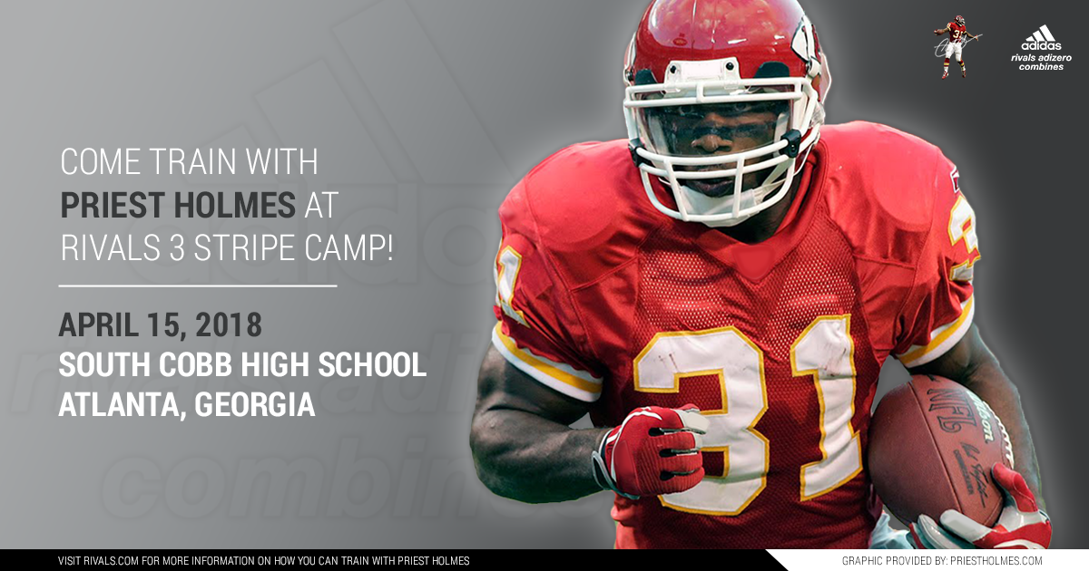 Priest Holmes Rivals 3 Stripe Camp - Atlanta GA: South Cobb High School | Priest Holmes Official Website