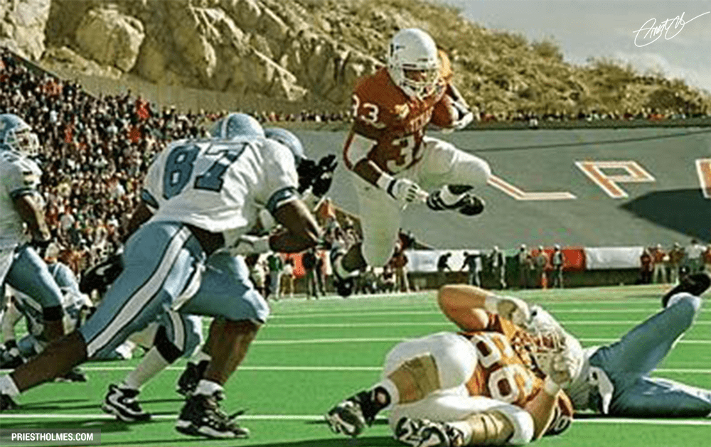 Priest Holmes, University of Texas Longhorns, 1994 Sun Bowl, North Carolina Tarheels, University of North Carolina